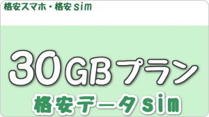 格安データsim「30GBプラン」