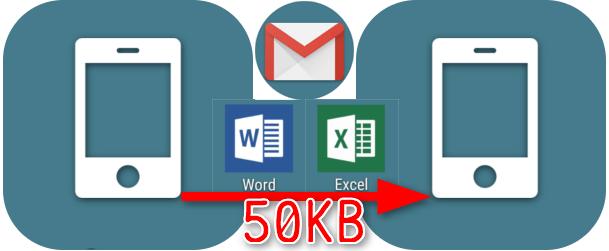 ワード・エクセル資料 3ページ分(50KB)を Eメールに添付して送ったら?