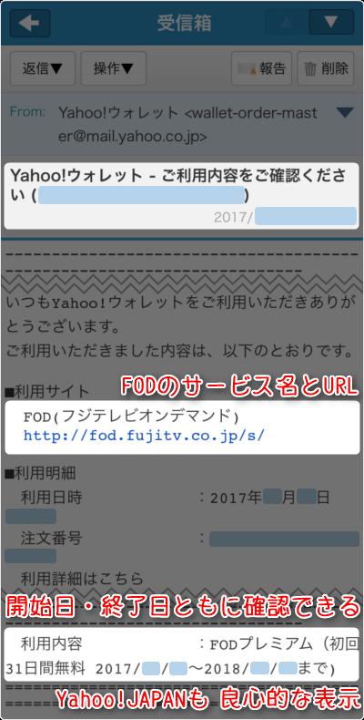 FODの名称とURL、開始日・終了日ともに確認できる、Yahoo!JAPAN側も 良心的な表示