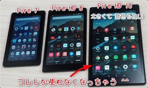 大きくて発色も良い「Fire HD 10」しか使わなくなっちゃう