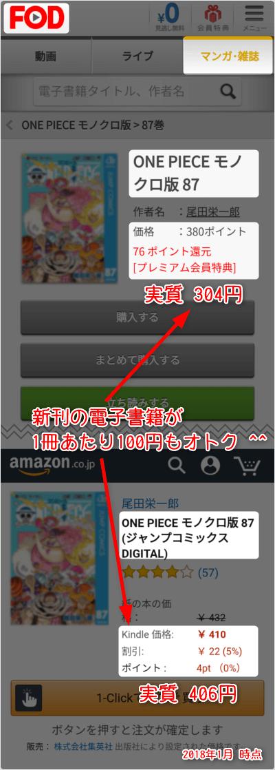 新刊の電子書籍が1冊あたり100円もオトク