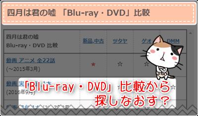 四月は君の嘘 -「Blu-ray・DVD」比較から探しなおす?