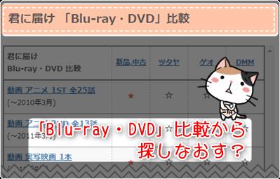 君に届け -「Blu-ray・DVD」比較から探しなおす?