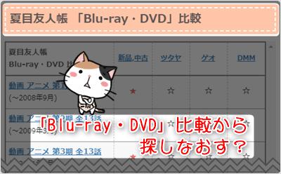 夏目友人帳 -「Blu-ray・DVD」比較から探しなおす?