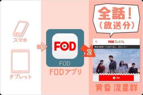 スマホ・タブレット (FODアプリ) で 黄昏流星群「全話 (放送分) 」をイッキ見・見逃し視聴